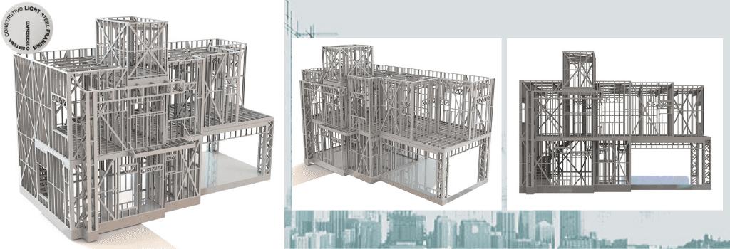 Modelagem Estrutural em Light Steel Framing