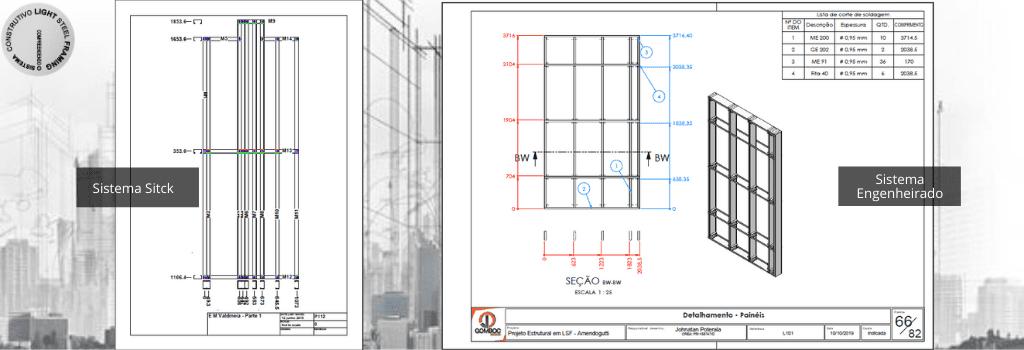 Detalhamento do Tipo Stick e Engenheirado em Light Steel Framing