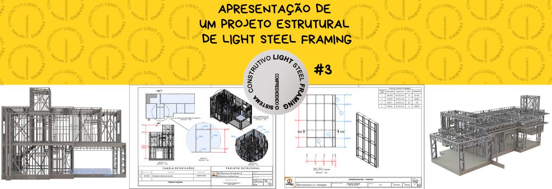 Cabeçalho Postagem Apresentação Projeto Estrutural em Light Steel Framing